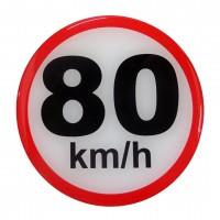 ΣΗΜΑ ΤΑΧΥΤΗΤΑΣ ΧΙΛΙΟΜΕΤΡΩΝ 80km/h 10cm ΑΥΤΟΚΟΛΛΗΤΟ 1ΤΕΜ. Αυτοκόλλητα Γράμματα και Αριθμοί americat.gr