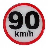 ΣΗΜΑ ΤΑΧΥΤΗΤΑΣ ΧΙΛΙΟΜΕΤΡΩΝ 90km/h 10cm ΑΥΤΟΚΟΛΛΗΤΟ 1ΤΕΜ. Αυτοκόλλητα Γράμματα και Αριθμοί americat.gr