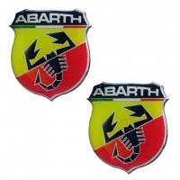 ABARTH ΑΥΤΟΚΟΛΛΗΤΑ 2,5x2,2cm ΣΜΑΛΤΟΥ - 2 ΤΕΜ. Αυτοκόλλητα Διακοσμητικά americat.gr