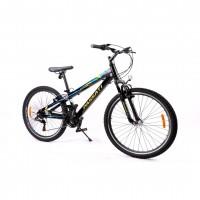 """ΠΟΔΗΛΑΤΟ 26"""" PASSATI VANGUARD 18 SPD SHIMANO RS35ΜΕ ΜΠΡΟΣΤΙΝΗ ΑΝΑΡΤΗΣΗ (ΑΛΟΥΜΙΝΙΟΥ/ΜΑΥΡΟ) Ποδήλατα 26 ιντσών americat.gr"""