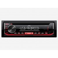 JVC RADIO CD MP3 USB AUX ΚΟΚΚΙΝΟ ΦΩΤΙΣΜΟ ΣΥΜΒΑΤΟ ΜΕ ANDROID Multimedia americat.gr