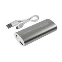 Αυτόνομος Φορτιστής Μπαταρίας {Power Bank} USB 4000mAh POWER PACK 9000 με φως LED Ασημί/Χρυσό Φορτιστές americat.gr