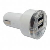 ΑΝΤΑΠΤΟΡΑΣ ΑΝΑΠΤΗΡΑ ΜΕ 2 ΘΥΡΕΣ USB ΛΕΥΚΟ ΧΡΩΜΑ 3100 mA 12/24 V Ανορθωτές και Αντάπτορες americat.gr