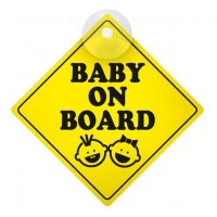 BABY ON BOARD ΕΝΔΕΙΞΗ ΜΕ ΒΕΝΤΟΥΖΑ 127x127mm Διάφορα Διακοσμητικά americat.gr