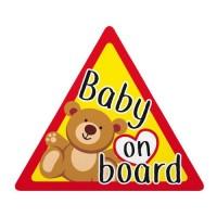 BABY ON BOARD ΕΝΔΕΙΞΗ ΣΤΑΤΙΚΟ 128x112mm Διάφορα Διακοσμητικά americat.gr