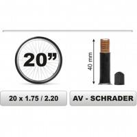 ΣΑΜΠΡΕΛΑ ΠΟΔΗΛΑΤΟΥ 20χ1.75/2.20 ΜΕΓΑΛΗ ΒΑΛΒΙΔΑ (40mm) Σαμπρέλες americat.gr