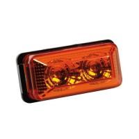 Φως Φορτηγού 24V 2LED 70x35mm Πορτοκαλί Διάφορα Φώτα americat.gr