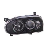 ΦΑΝΑΡΙΑ Autostyle Angel Eyes VW GOLF 3 +HALORIM BLACK ΦΑΝΑΡΙΑ ΦΩΤΑ americat.gr