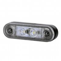 ΦΩΣ ΟΓΚΟΥ LD956 12/24V 2 LED HORPOL 79 Χ 24 mm (ΛΕΥΚΟ) - 1 ΤΕΜ. Φώτα Ογκου americat.gr