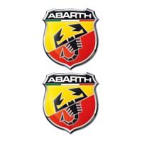 ABARTH ΑΥΤΟΚΟΛΛΗΤΑ 2,5x2,2cm ΣΜΑΛΤΟΥ 2ΤΕΜ. Σήματα 3D americat.gr