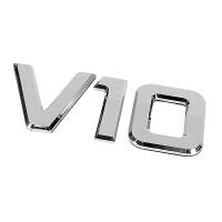 ΑΥΤΟΚΟΛΛΗΤΟ ΜΕΤΑΛΛΙΚΟ 3D ΣΗΜΑ V10 Αυτοκόλλητα Φορτηγών americat.gr