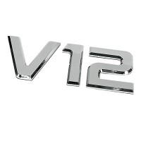 ΑΥΤΟΚΟΛΛΗΤΟ ΜΕΤΑΛΛΙΚΟ 3D ΣΗΜΑ V12 Αυτοκόλλητα Φορτηγών americat.gr