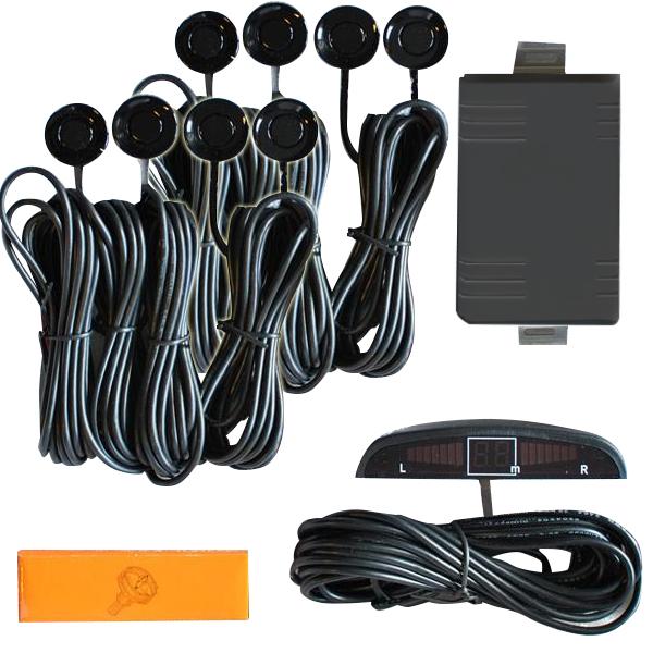 Σύστημα Παρκαρίμαστος με 8 αισθητήρες και ψηφιακή οθόνη ΒΥ-828-8  ΜΑΥΡΟ
