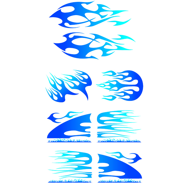 Lampa ΑΥΤΟΚΟΛΛΗΤΑ-ΦΛΟΓΕΣ (ΚΙΤ 7 ΤΕΜΑΧΙΩΝ)